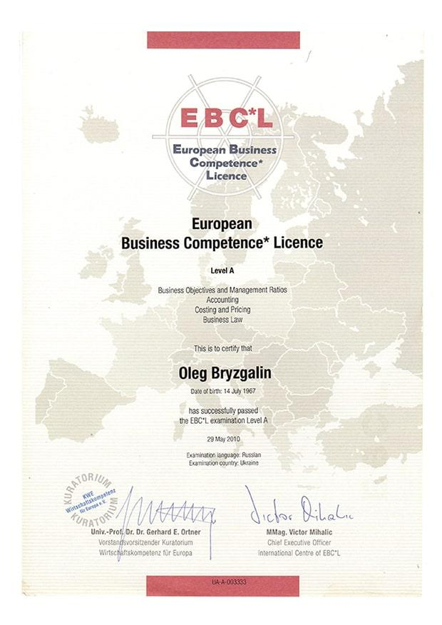 European Business Competence Licence